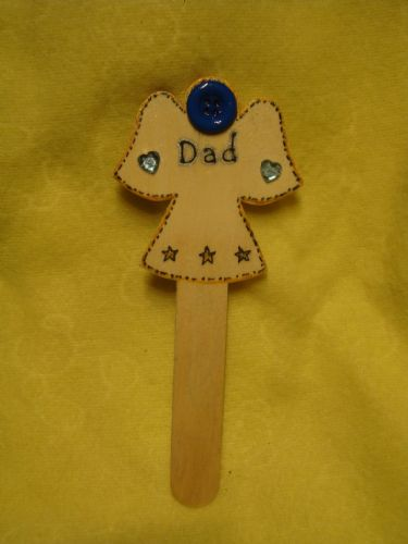 Father's Day**SALE** was £1.99 Angel Memorial Grave Tree Marker Crematorium Dad Christmas Birthday In Memory Unique Sign Ready To Despatch